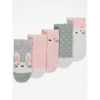 Бебешки чорапки Зайче 5бр.